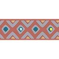 PLAGE Cenefa Adhesiva removible - Tribal Naranja, acrílico, Naranja, 300x 0,2x 10cm 195018