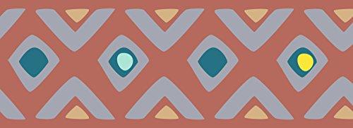 PLAGE Cenefa Adhesiva removible - Tribal Naranja