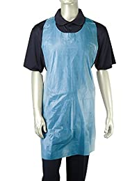 Royal Blue Lightweight Poly Aprons, 61 cm x 107 cm, Package of 100