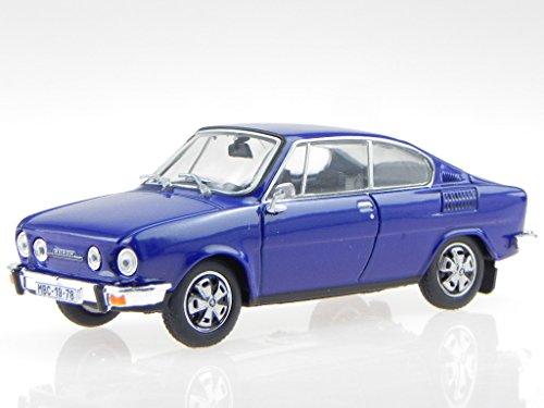 Skoda 110R Coupe 1978 saphir blau Modellauto 143ABS-707KN Abrex 1:43