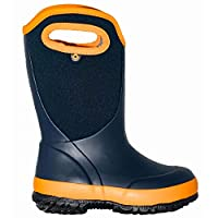 BOGS Boys Slushie Solid Navy Orange Insulated Warm Wellies Boot 78584 492-UK 2 (EU 35)