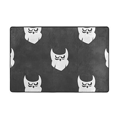 �matte mit süßem Halloween-Motiv, Fußmatte für Wohnzimmer, Esszimmer, Schlafzimmer, Küche, Rutschfest, Polyester, 1, 72 x 48 inch ()