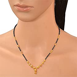 Pchalk Designer Jewellery American Diamond Gold Plated Partywear Collection Mangalsutra For Women