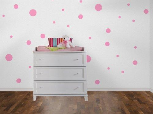 Wandtattoo Punkte im Polka Dot Style 75 Stk 43-lavendel (Polka-dot-möbel)