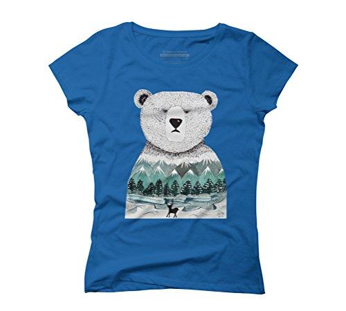 Nordic Pal Women's Graphic T-Shirt - Design By Humans Royal Blue