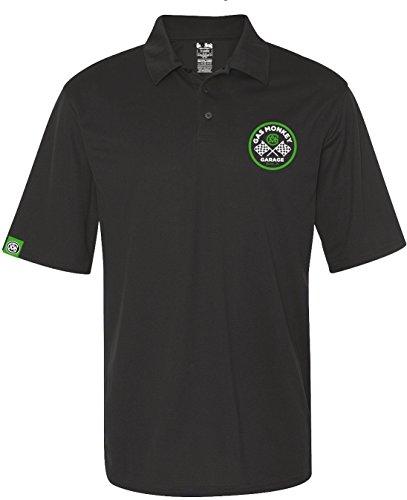 Gas Monkey Garage Polo Shirt Checkered Flags Black Black