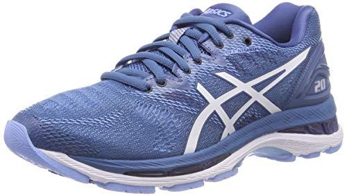 Asics Gel-Nimbus 20, Zapatillas de Entrenamiento para Mujer, Azul (Azure/White 401), 39.5 EU