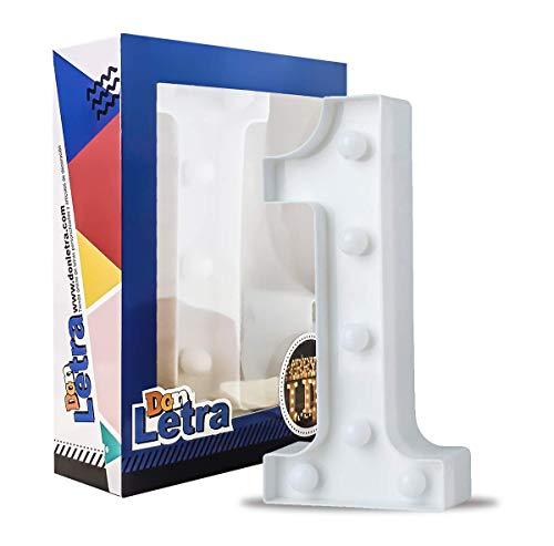DON LETRA - Números Decoración LED Números Decorativos con LED Lámparas Decoradas LED Luces Decorativas LED Luz de Decoración Diseño de Números 0-9 Color Blanco (1)