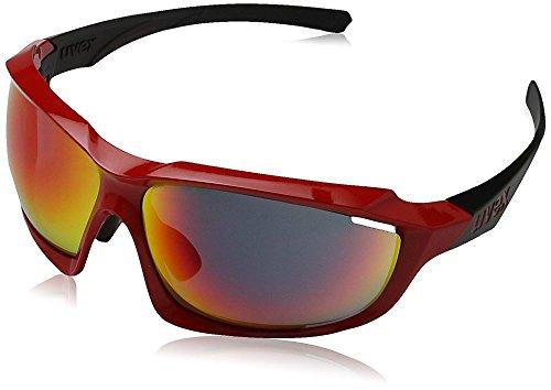 Uvex Sportstyle 710 Gafas de Ciclismo, Unisex Adulto, Rojo/Negro, Única