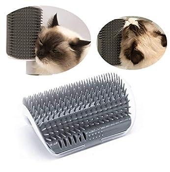 pour animal domestique Self Toilettage Brosse de massage Brosse avec herbe à chat