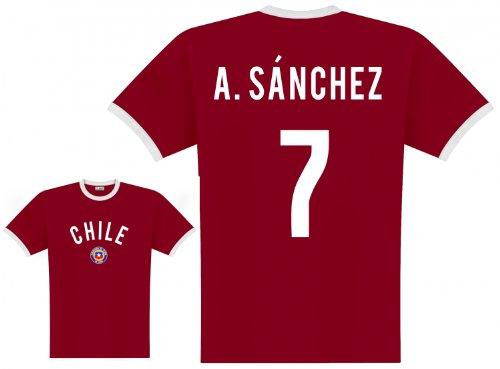 World of Football Player Shirt Chile Sanchez - XXL