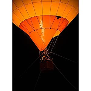 PB Air Balloon Canvas Painting 6mm Thick MDF Frame 14 x 19.2inch