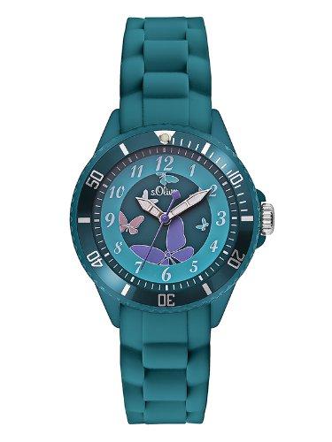 S.Oliver Mädchen Analog Quarz Armbanduhr SO-2597-PQ