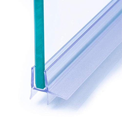 IEGAR Guarnizione 100Cm Sottoporta Trasparente 2a Generazione Profilo Doppia Aletta...