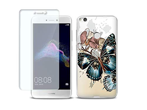 etuo Huawei P9 Lite (2017) - Hülle, Silikon, Gummi Schutzhülle Full Body Slim Fantastic - Schöne Schmetterlinge