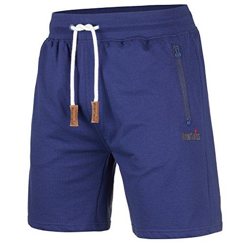 Mount Swiss Herren MS Short, Liam, Twilight-Blue, Gr. L/Kurze Hose/Jogginghose / Sweatpants aus 100% Baumwolle