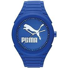 Puma Gummy Cat - Reloj análogico de cuarzo con correa de silicona unisex, color azul