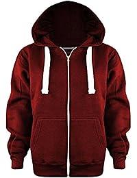 fashionchic enfants garçons filles Unisexe Uni fermeture éclair manches longues 2 poches Sweat capuche polaire cardigan haut taille 2 3 4 5 6 7 8 9 10 11 12 13 An 15 couleurs