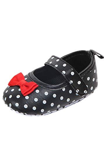 Aoweika Baby Schuhe mädchen Bowknot Schuh-Turnschuh Anti-Rutsch weiches Polka Dot Prinzessin Schuhe Solekleinkind Kleinkind Schuhe (Dot Polka Leuchten)