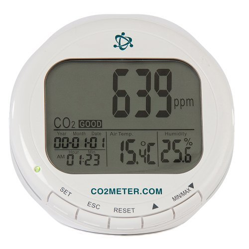 CO2Meter AZ-0004 Indoor Air Quality CO2 Meter, Temperature and Relative Humidity, White by CO2Meter -