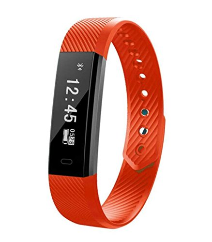 Smart Wear Bluetooth Telefono Cellulare Andrews IOS Bluetooth Sport Passo Frequenza Cardiaca Intelligente Reminder Guardare ANDROID IOS,Red-40*18*10mm