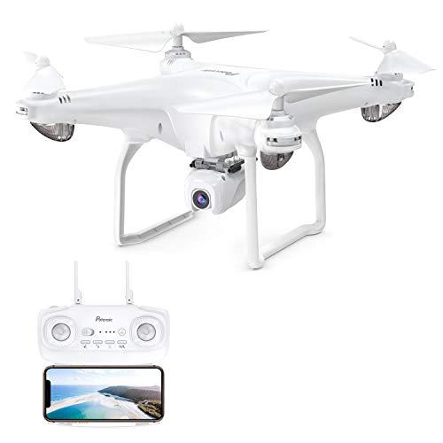 Potensic D58 GPS Drohne RC Quadrocopter mit 1080P Kamera 5G WiFi FPV Live Übertragung, Automatisch Rückkeh, Follow Me, Orbit-Modus, 18 Minuten Flugzeit Weiß
