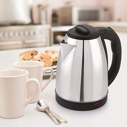 BMS LIFESTYLE 2 Liter Fast Boiling Tea kettle Cordless,Stainless Steel...