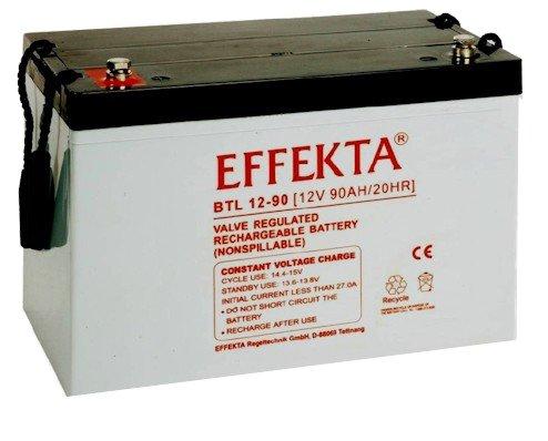 EFFEKTA BTL 12-90 / 12V 90Ah AGM Blei Akku Batterie