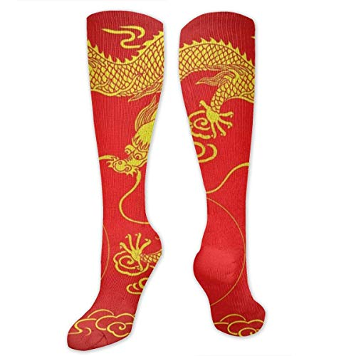 CVDFVFGB Socks Dragon Gold Red Chinese Amazing Womens Stocking Party Sock Clearance for - Red Dragon Girl Kostüm