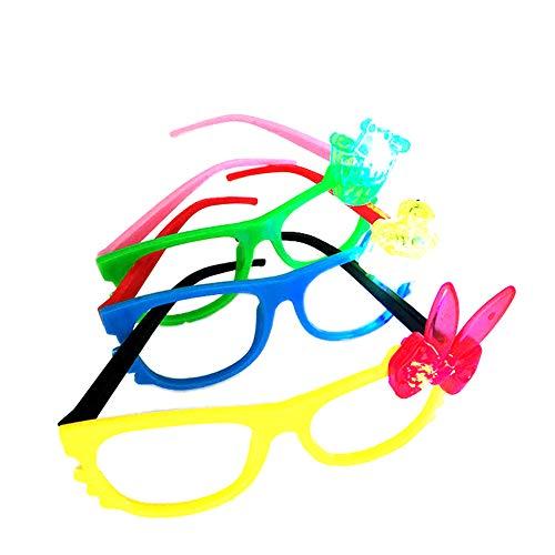 ronen-Bogen-Blumen-Glas-Brillen-Kind-Kind-Glas-Neuheit-Abendkleid-Licht-Partei-Halloween-Spielzeug Kostüme zeigen (Random Style) ()