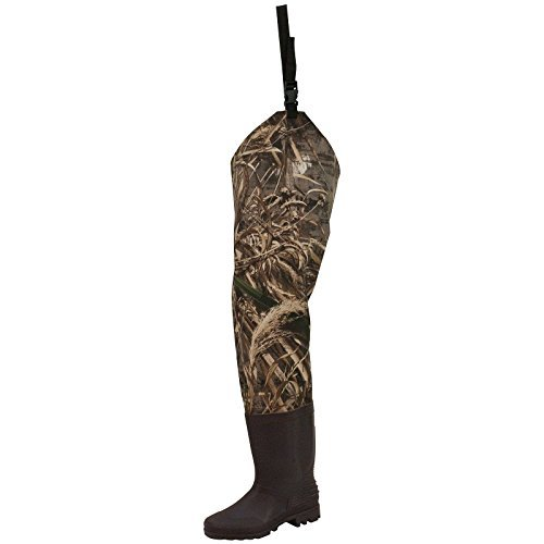 Frogg Toggs Rana II PVC Bootfoot Camo Hip Wader, Cleated Outsole, Realtree Max5, Size 9