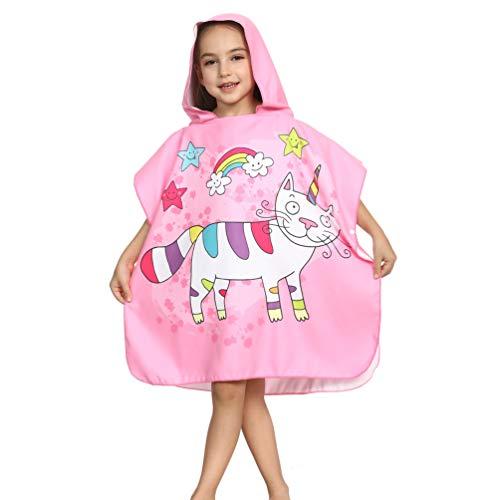 Deluxe Kostüm Rapunzel - Bademantel für Jungen und Mädchen, mit Kapuze, superweich, für Kinder, rosa