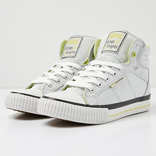 British Knights DEE DONNE ALTE SNEAKERS ARGENTO/VERDE LIME