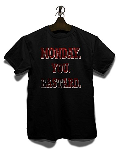 Monday You Bastard T-Shirt Schwarz