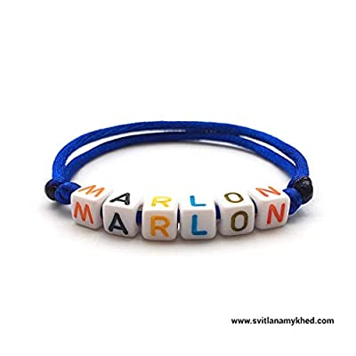 Bracelet MARLON personnalisable avec prénom, message, logo, surnom (réversible) pour homme, femme, enfant, bebe, nouveau-né. Création sur mesure!