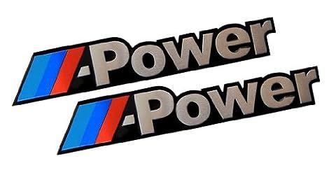 2 x (Pair / Set) M POWER Real Aluminum Engine Hood Emblem Badge Nameplate for BMW M3 M5 M6 318i 325i 330i 325i 335I e30 E36 E39 E46 E60 e65 E81 E82 E87 E90 E91 E92 1 3 5 7 X Z Series Z3 Z4 520i 525i 530i 540i 635i 454 560 DTM 128 135 X1 X3 X5 X7