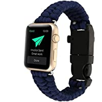 AIYIBEN 42MM iwatch de Apple Watch reloj de pulsera de supervivencia de paraguas de Nylon nueva