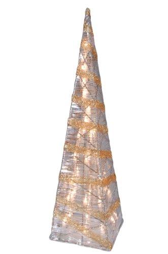 Naeve Leuchten 345545 Weihnachtspyramide, gold / klar