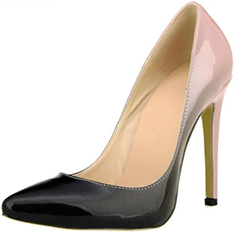 zch zch zch gradient femmes cuir couleur fait partie des talons hauts talons 42 grandes pompes b074m34wkl taille 36 parent 8d9df9