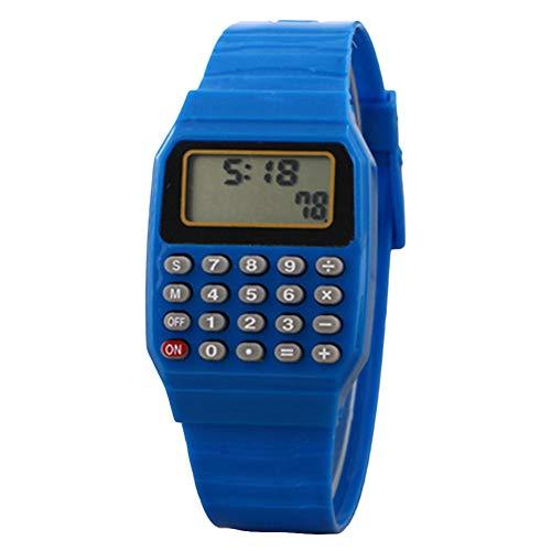 YSoutstripdu Kinder Digital-Armbanduhr, quadratisch, tragbar, Taschenrechner, Prüfungswerkzeug für Kinder