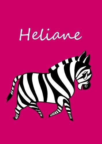 Heliane: individualisiertes Malbuch/Notizbuch/Tagebuch - Zebra - A4 - blanko