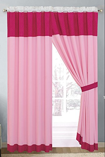 Grand Linen Pin Tuck geprägt Betten Moderne Oversize Tröster Set Twin, Full, Queen, King, Cal King, Vorhängen Modern Curtains Rose (Grand Bettwäsche Tröster-sets)