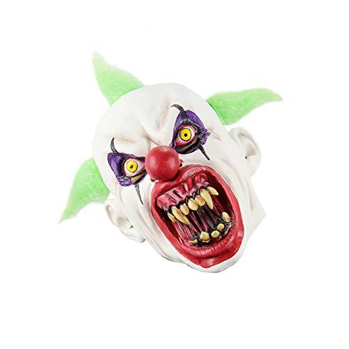 Cdet 1x Horror Maske Halloween Neuheit Latex Horror Spuk Kopf Masken Cosplay Karneval Maskerade Kostüm (Blut Mund Clown)