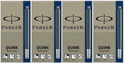 Preisvergleich Produktbild Parker Quink Tintenpatronen (Großraum, Blauschwarz, 4)