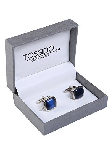 tossido Men's Stone Cuff-Link (Blue)