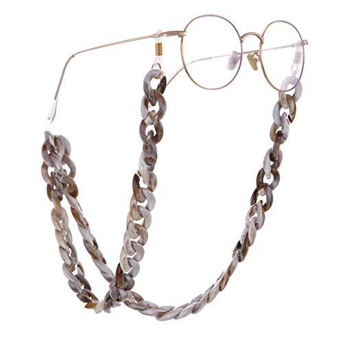 fishhook Catena per occhiali Retro Resina Leopard Occhiali da sole Occhiali da lettura Cinturino antiscivolo Custode Cordino Supporto per collana per donna