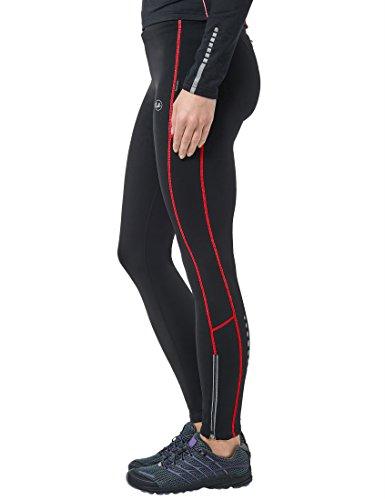 Ultrasport Damen Laufhose gefüttert mit Quick-Dry-Funktion lang, black red, M, 380100000210 - 3