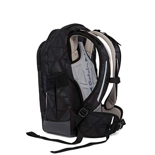 SATCH Black Triad Kinder-Rucksack, 45 cm, Schwarz Heatemboss, SAT-SLE-001-9C5
