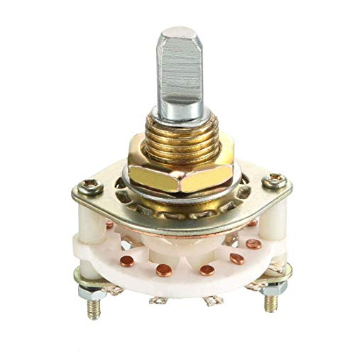 ZCHXD 1P10T 1 Pole 10 Position Selectable Single Deck Band Channel Rotary Switch Selector -