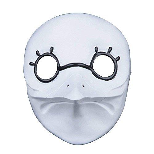 Halloween Maske aus Kunstharz Jason Bronze Maske, XinXun Collector 's Edition Film Thema Kinder Maske für Erwachsene White 3